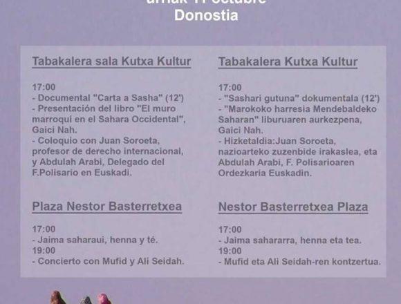 Donostia 11 de octubre: Día de la Unidad Nacional Saharaui