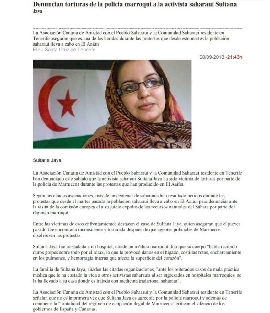 Noticias #saharauis del 10 de septiembre de 2018: #ActualidadSaharaui #SaharaOccidental