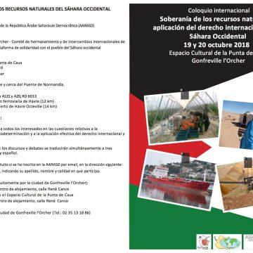 Coloquio internacional: Soberanía de los recursos naturales y aplicación del derecho internacional en el Sáhara Occidental – Amis de la République Sahraouie