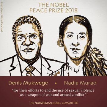 Denis Mukwege y Nadia Murad, Nobel de la Paz 2018 por su lucha contra la violencia sexual en la guerra