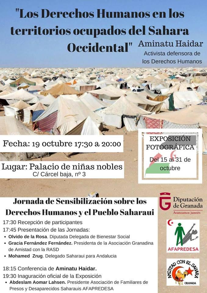 Aminetu Haidar el 19 de octubre en Granada — Asociación Granadina de Amistad con la República Árabe Saharaui Democrática