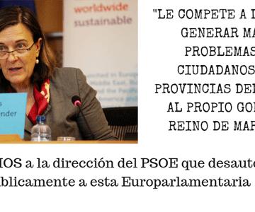 """EXIGIMOS a la dirección del PSOE que desautorice públicamente a Inés Ayala, que está haciendo el trabajo """"sucio"""" al régimen feudal marroquí  – CEAS-Sahara"""