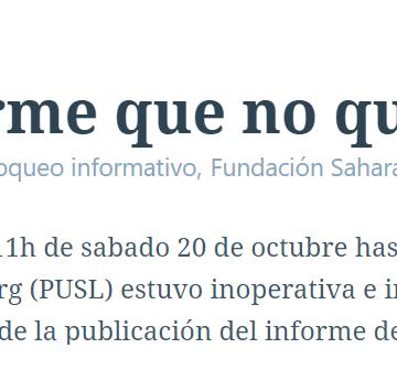 El informe que no quieren que lean | POR UN SAHARA LIBRE .org