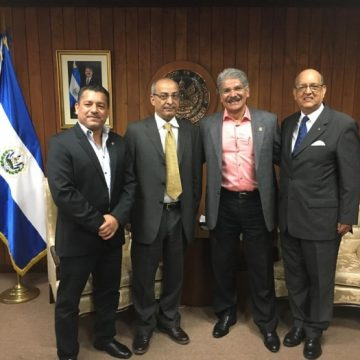 El Presidente de la Asamblea Legislativa de El Salvador recibe a Delegación Saharaui   Sahara Press Service