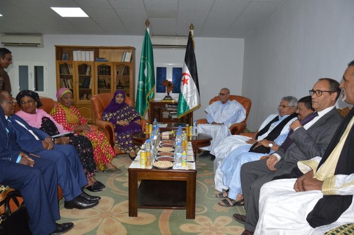 El presidente Brahim Gali recibe a la delegación de la Comisión de la Unión Africana tras finalizar su visita a la RASD | Sahara Press Service