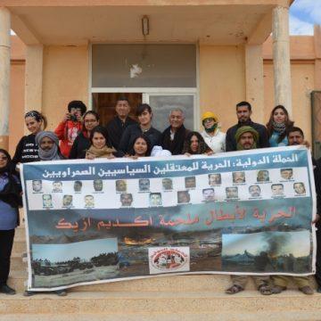 Delegación mexicana en visita a la RASD organiza mitin de solidaridad con los presos políticos saharauis del grupo Gdeim Izik. | Sahara Press Service