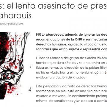 Marruecos: el lento asesinato de presos políticos saharauis — POR UN SAHARA LIBRE .org