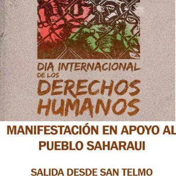 Urgente ‼ Manifestación de apoyo al pueblo saharaui en  el día de los derechos humanos en Tenerife