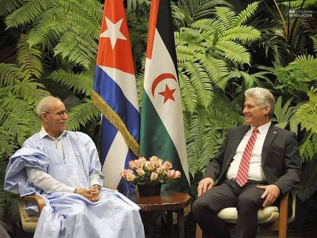 Presidente Saharaui recibido por su homólogo cubano, Díaz-Canel (Fotos PL) | Sahara Press Service