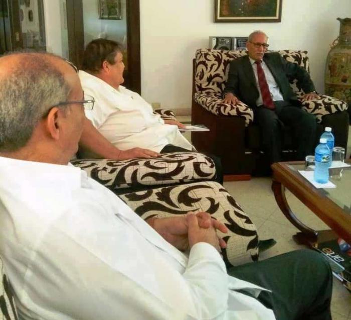 El Presidente Saharaui recibe a representantes del Grupo Parlamentario Cubano de Solidaridad con el Pueblo Saharaui.   Sahara Press Service