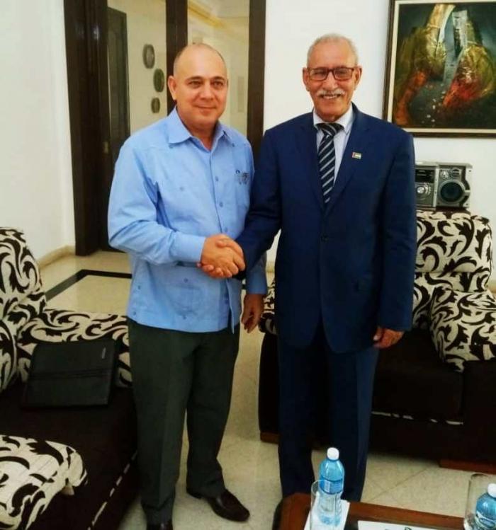 Presidente de la República, Brahim Ghali recibe a Vicepresidente cubano | Sahara Press Service
