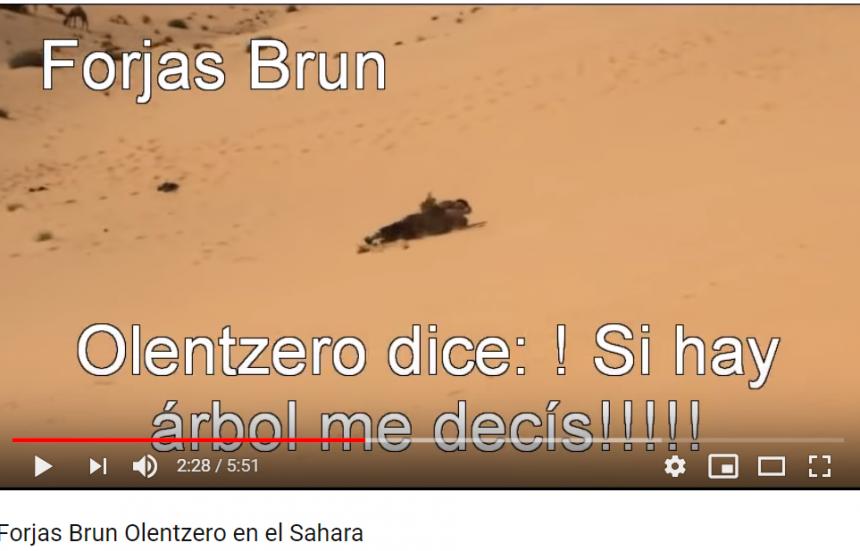 Olentzero en el Sahara (Forjas Brun)