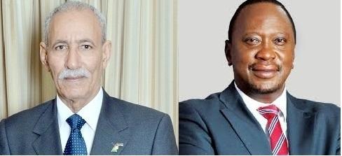 Presidente de la república, Brahim Gali, felicita a su homologo keniano Uhuru Kenyatta   Sahara Press Service