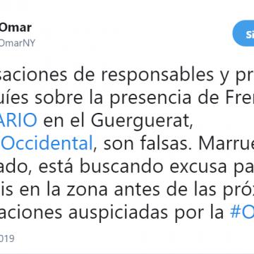 Tuits #SaharaOccidental 2019: @SidiOmarNY – Guerguerat (6 de enero)