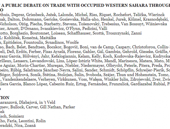 These MEPs blocked a parliament debate on illegal Western Sahara trade – wsrw.org