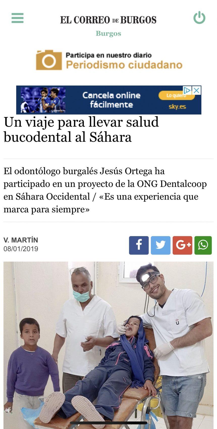 Un viaje para llevar salud bucodental al Sáhara – Burgos – El Correo de Burgos
