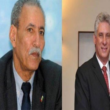 El Presidente de la República felicita a su homologo cubano por el 60 aniversario del triunfo de la Revolución Cubana | Sahara Press Service