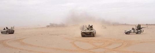 L'armée sahraouie exécute une manœuvre militaire à Mheiriz en territoires libérés | Sahara Press Service
