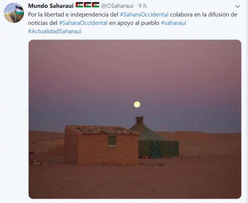 Tuits #SaharaOccidental 2019: @OSaharaui  –  Noche #saharaui (6 de enero)
