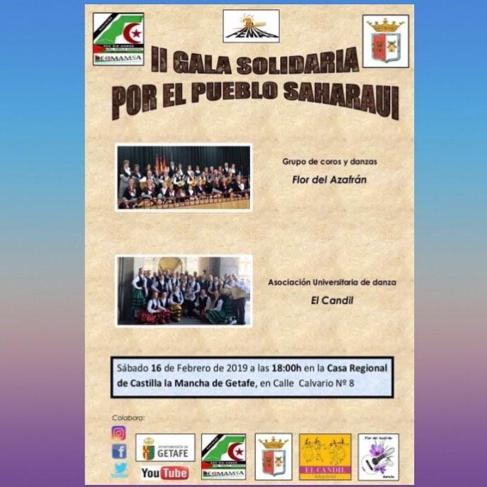 Sábado 16 de febrero. Gala solidaria por el Pueblo Saharaui en Getafe. Coro y Da… – FEMAS Madrid con el Sáhara