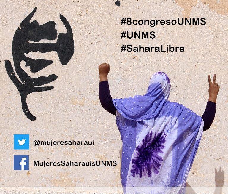 El 8 Congreso de la Unión Nacional de Mujeres Saharauis comienza mañana.  SÍGUELO en @8Unms 🇪🇭