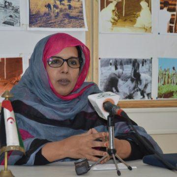 Fátima El Mehdi asegura que el VIII de la UNMS será una plataforma para informar a los participantes extranjeros sobre la experiencia del Estado saharaui en varios campos | Sahara Press Service