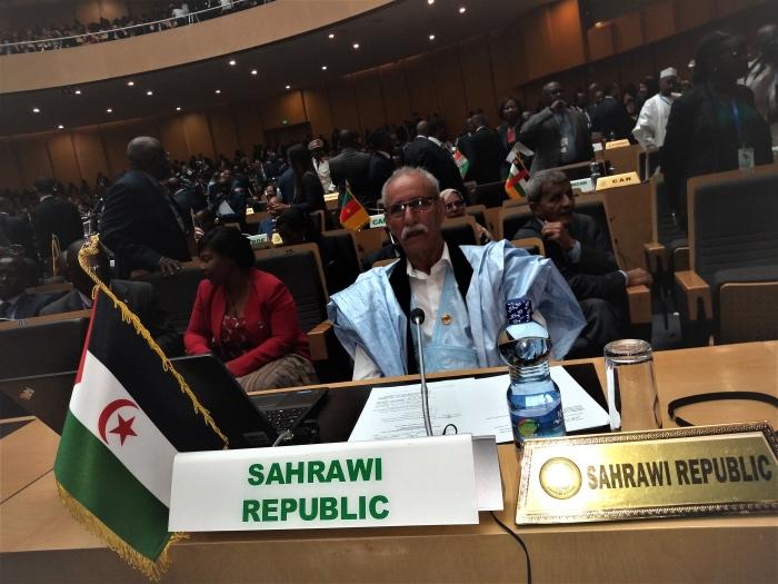 Le président de la République assiste aux travaux du 32e sommet des chefs d'État et de gouvernements de l'UA | Sahara Press Service