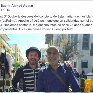 Alex O'Dogherty en la Palma, con monólogo y concierto en solidaridad con el pueblo saharaui
