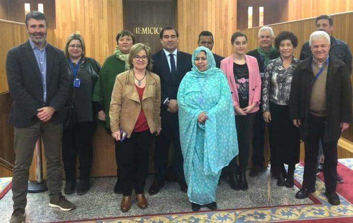 Integrupo de apoyo al pueblo saharaui en el Parlamento Gallego se reúne con la representa del F. Polisario | POR UN SAHARA LIBRE .org