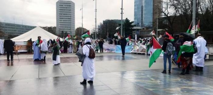 Manifestación saharaui ante la sede de la ONU para exigir la celebración del referéndum de autodeterminación | Sahara Press Service
