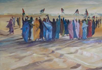 Mujer liberadora: del poeta saharaui Mohamidi Fakala en el exilio, (Campamentos de refugiados saharauis en el sur de Argelia)