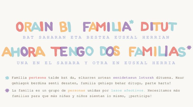 Llamamiento a las familias para que acojan niños y niñas saharauis en verano | Tolosa