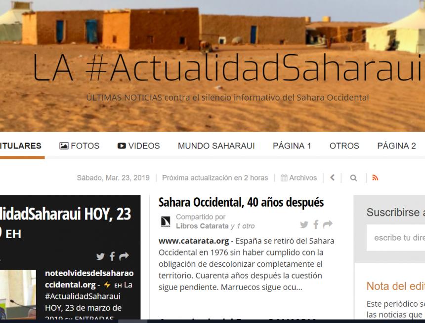 LA #ActualidadSaharaui – ÚLTIMAS NOTICIAS contra el silencio informativo del Sahara Occidental