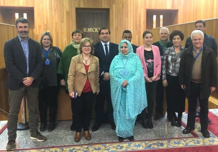 Galician Parliament Integroup to support Sahrawi people meets with the representative of Frente POLISARIO | Sahara Press Service