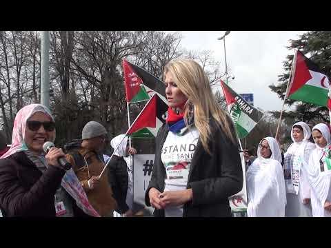 ITW de Catherine Constantinides lors de la manif de la diaspora saharouie devant le Conseil DDHH