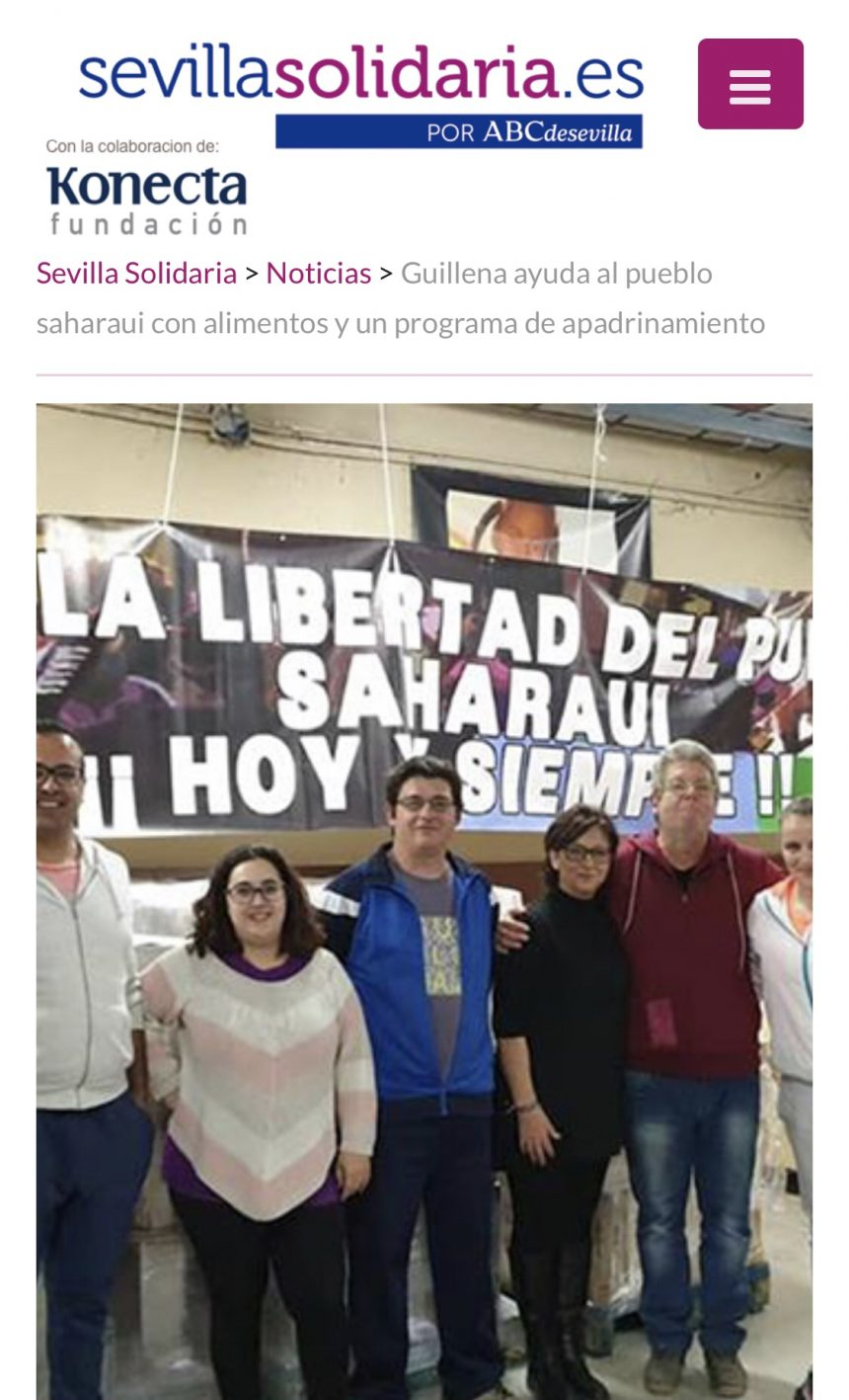 Guillena ayuda al pueblo saharaui con alimentos y un programa de apadrinamiento • Sevilla Solidaria