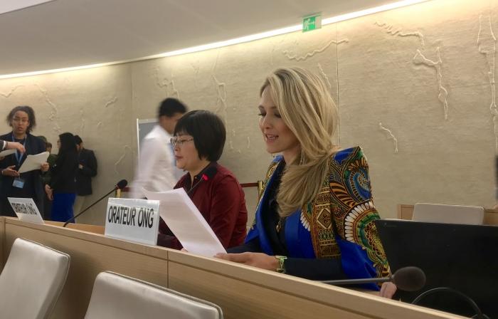 Catherine Constantinides expone ante el CDH de la ONU los sufrimientos y daños causados por las minas y el muro de la vergüenza marroquí | Sahara Press Service