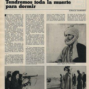Med Hondo y sus documentales sobre la lucha del pueblo saharaui