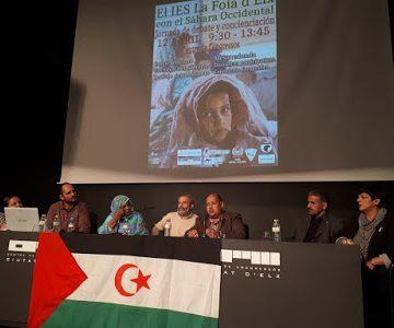 Poemario por un Sahara Libre: Declaración final. El IES La Foia con el Sahara Occidental. Jornada de debate y concienciación