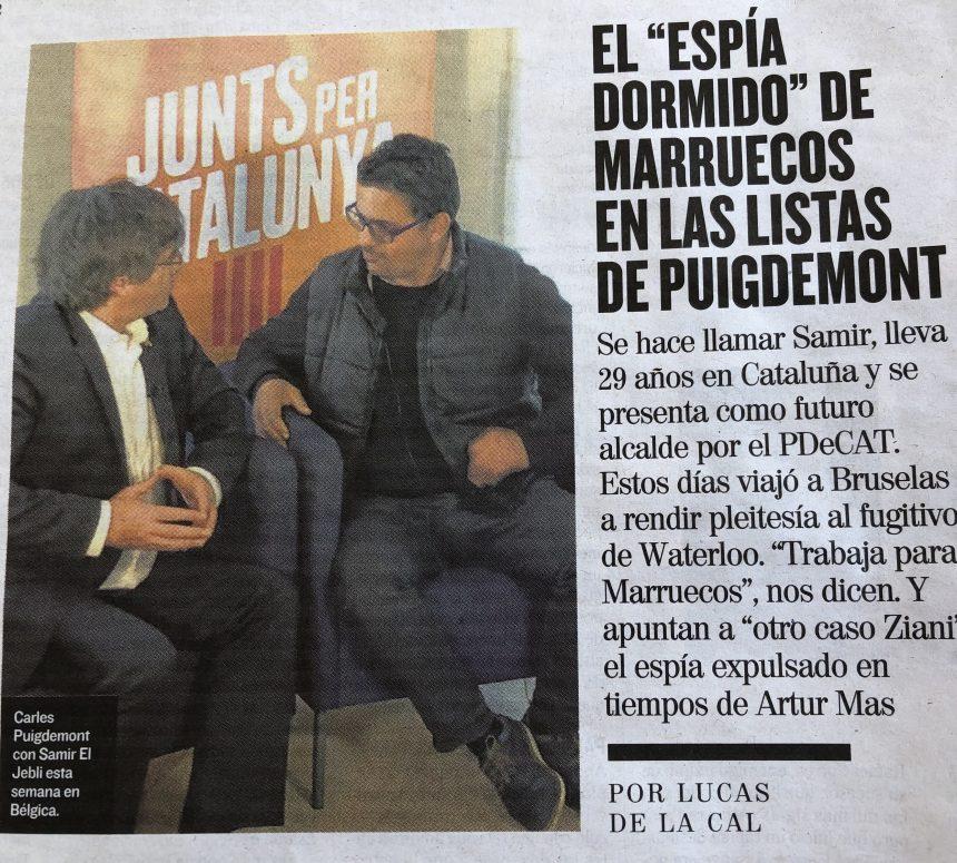 """EL MUNDO: El """"espía dormido"""" de Marruecos en las listas de Puigdemont"""