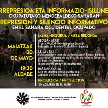 La represión de activistas saharauis y el silencio informativo – Arabako SEADen Lagunen Elkartea – Asociación de Amigas y Amigos de la RASD de Álava
