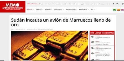 Marruecos pillado infraganti saqueando oro en el país africano, Sudan | DIARIO LA REALIDAD SAHARAUI