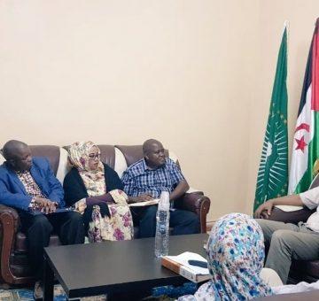 Delegación de la Unión Africana visita el Ministerio de Salud Pública Saharaui | Sahara Press Service