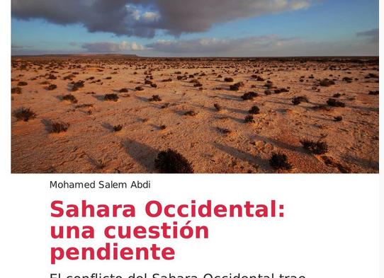 Nouvelle parution: Sahara Occidental, una cuestión pendiente – Mohamed Salem Abdi – OUISO