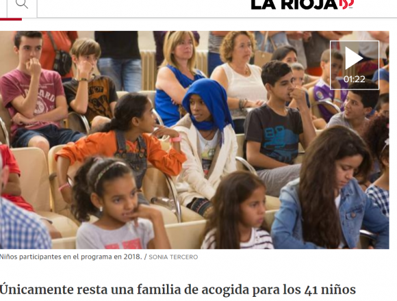 El próximo 26 de junio llegarán 41 niñas y niños saharauis a #LaRioja de la mano del programa 'Vacaciones en Paz', | La Rioja