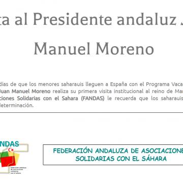Comunicados – Fandas: Federación Andaluza de Asociaciones Solidarias con el Sáhara