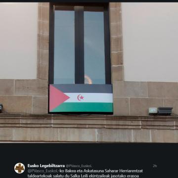 El Parlamento Vasco ha expresado mediante la publicación de una nota su solidaridad con la activista Salka Leili y con el pueblo saharaui y su legítima lucha