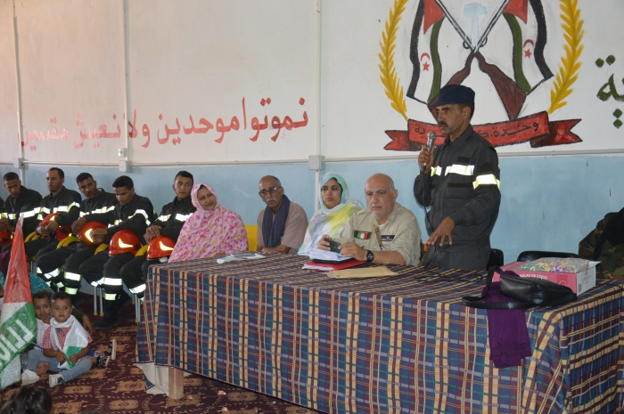 The inauguration of a new headquarters of civil protection in Ausserd Camps | Sahara Press Service