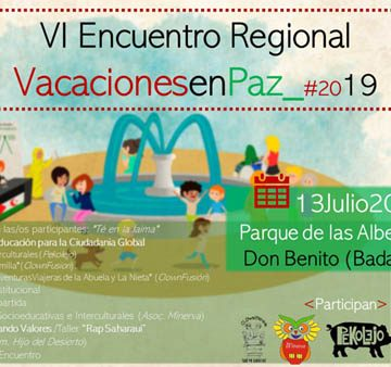 """Extremadura: Encuentro Vacaciones en Paz 2019: «el Sahara en nuestros pueblos"""" – CEAS-Sahara"""