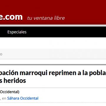 Fuerzas de ocupación marroqui reprimen a la población saharaui: un muerto y dos heridos – piensaChile ★ piensachile.com
